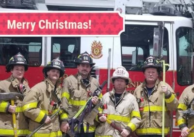 merry christmas from Sandwich Fire Department 2018